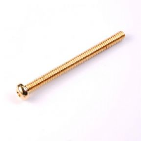 HUMBUCKER PICKUP HEIGHT SCREW 24K GOLD X 6